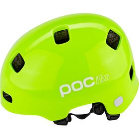 POC POCito Crane Kask rowerowy Dzieci, fluorescent yellow/green